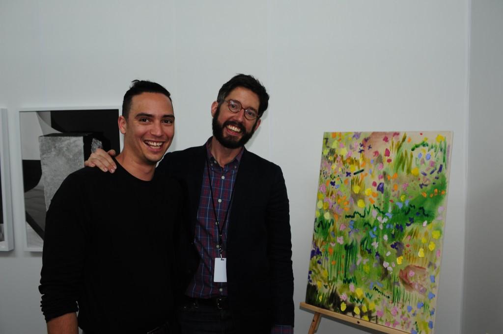 Artist Morgan Mandalay with Material Art Fair co-director Brett W. Schultz