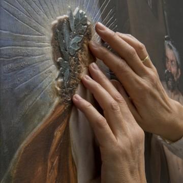 "The new touchable version of Velázquez's ""The Triumph of Bacchus"" (1628–29)"