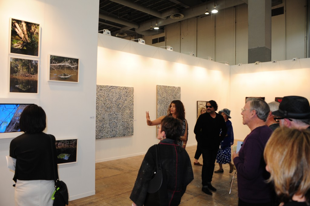 Wendi Norris of her San Francisco gallery showing the works of Julio Morales