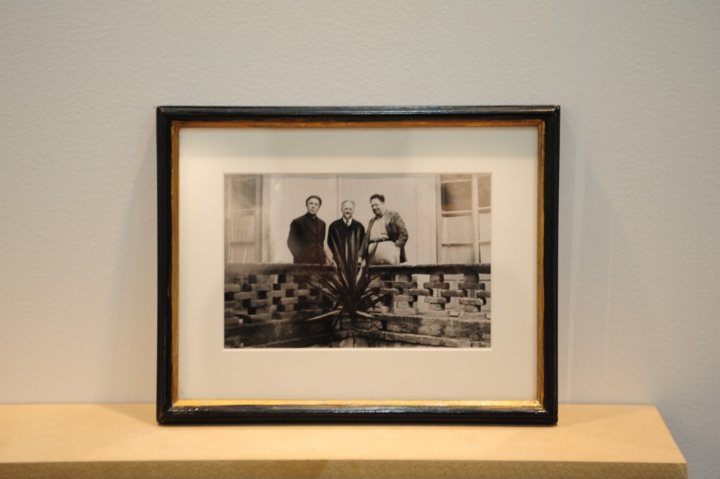 Andre Breton, Leon Trotsky and Diego Rivera from Breton's personal photography collection.