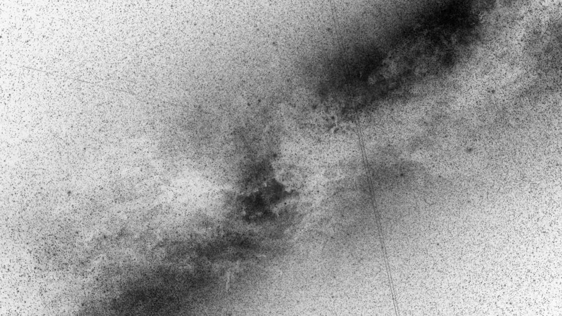 "Trevor Paglen, ""LACROSSE; ONYX V near Cepheus (Synthetic Aperture Radar Reconnaissance Satellite; USA 182),"" 2008. C-print, 48 x 60 in."