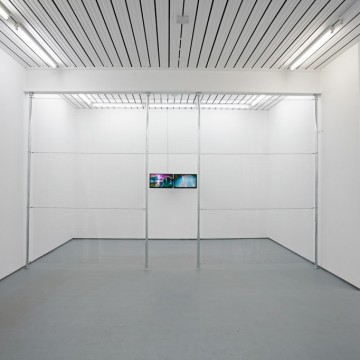 """Installation view, """"Illegal Personal Contact With An Opponent,"""" Norbert Delman at Maria Stenfors, London, 2015. Courtesy of Maria Stenfors."""