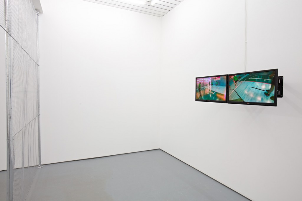"Installation view, ""Illegal Personal Contact With An Opponent,"" Norbert Delman at Maria Stenfors, London, 2015. Courtesy of Maria Stenfors."