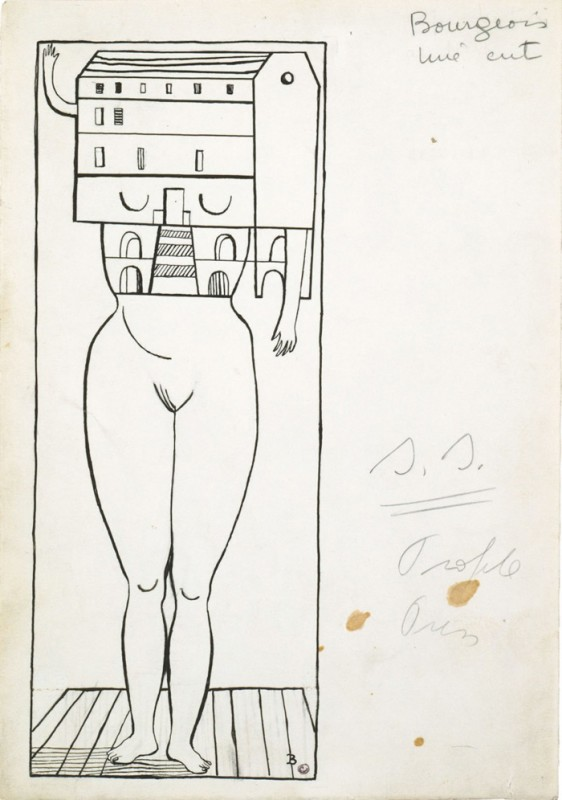 "Louise Bourgeois, ""Femme Maison,"" 1947. Courtesy of the internet."