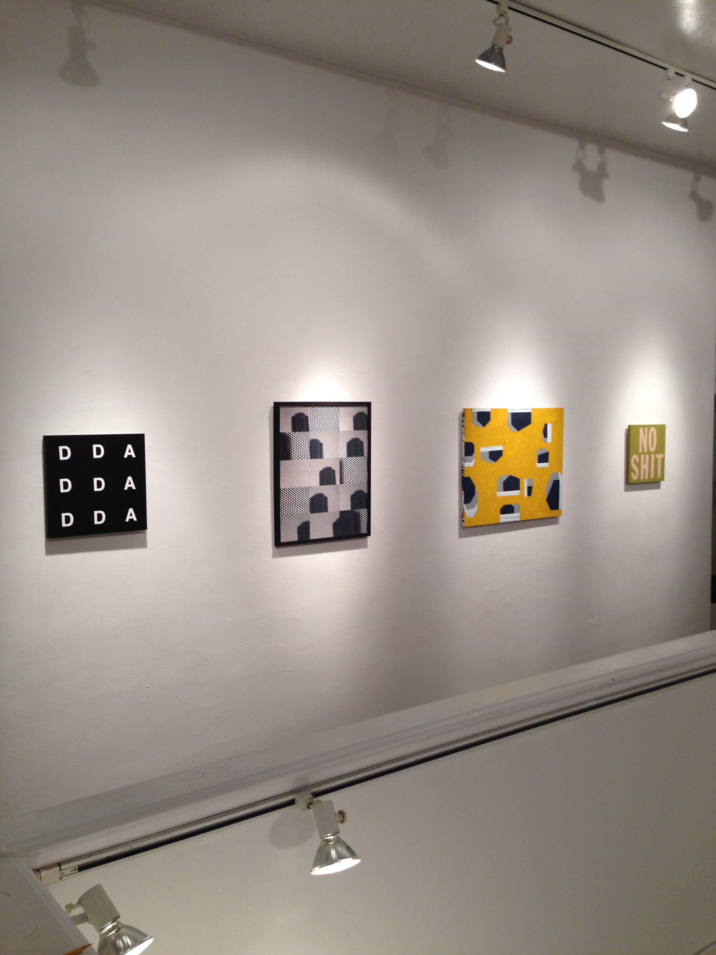 """Walter Logue, Paul Clipson, Alexander Cheves, installation view of """"This Island Earth"""" at Incline Gallery. Image courtesy of Alexander Cheves."""