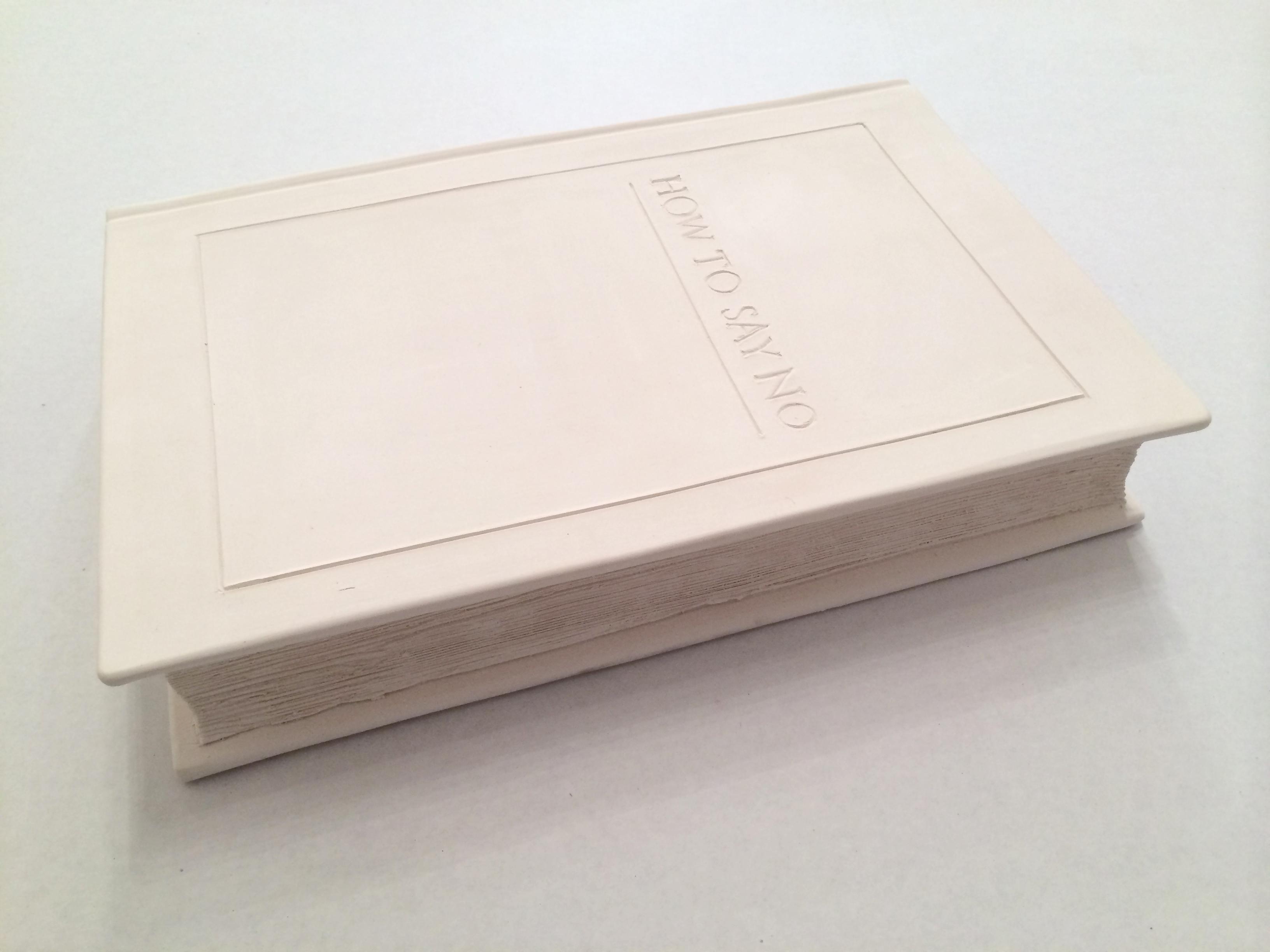 Carlotta Kohl, How to Say No, 2015. Ceramic. 11 x 16 x 3 inches