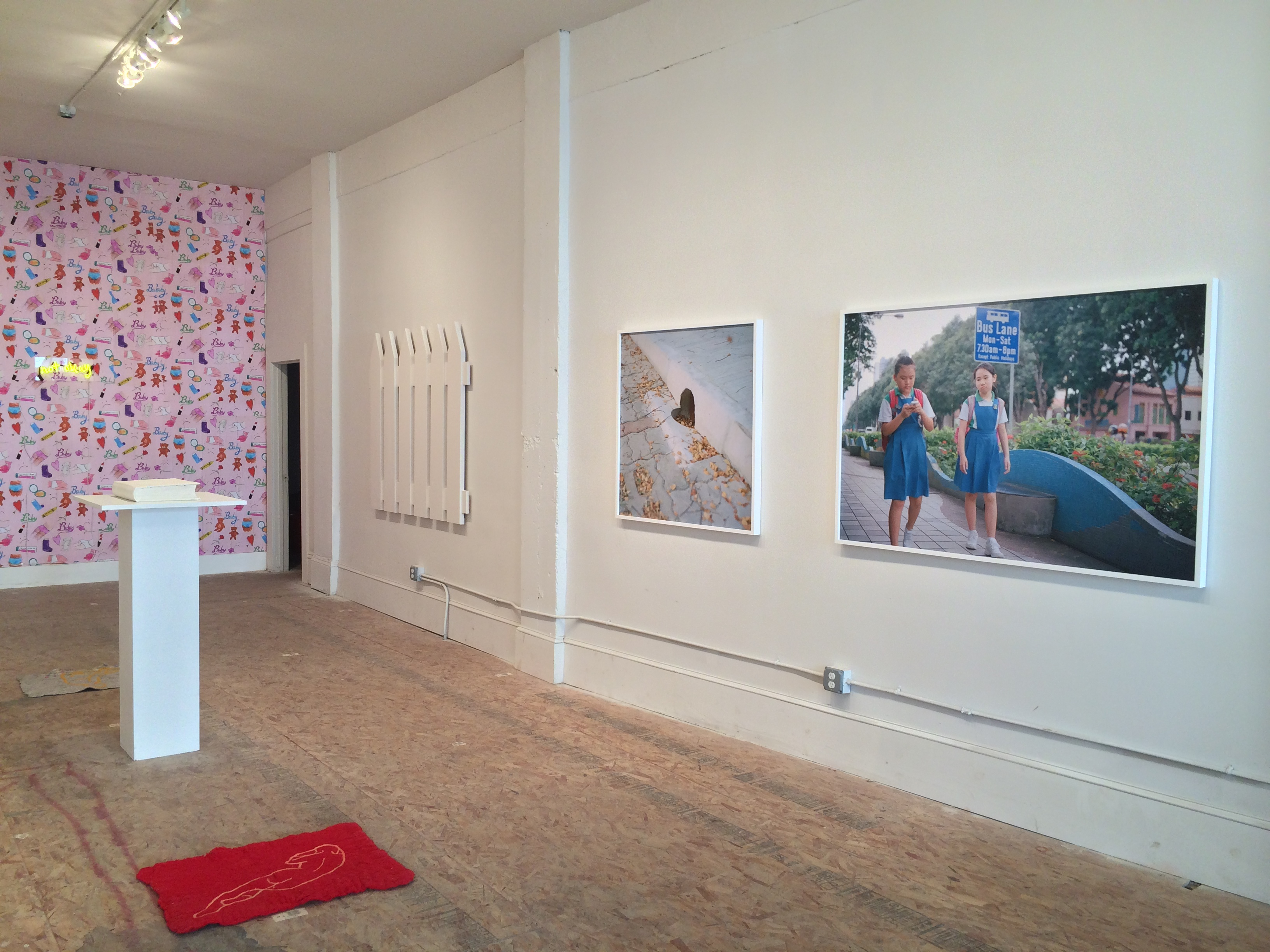 Installation view of Comforter at SFAQ[Project]Space