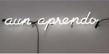 Aun Aprendo, 2014. Neon sculpture. Courtesy of the artist and Gallery 16, San Francisco.