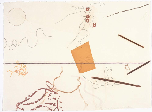 John Cage, Dereau #3, 1982. One from 38 related color etchings with aquatint, engraving, photoetching and drypoint. 181⁄2 x 241⁄2 in. Published by Crown Point Press.
