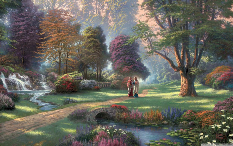 Thomas Kinkade, Walk of Faith, 2011. Courtesy of the Internet.