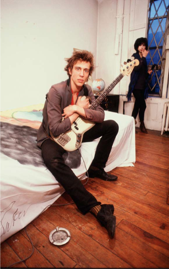 Richard Hell in his New York City apartment, 1982. Photograph by Roberta Bayley.