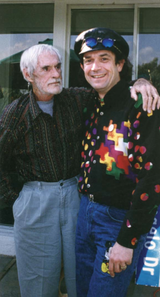 Timothy Leary and Mark McCloud, 1994. Courtesy of the artist.