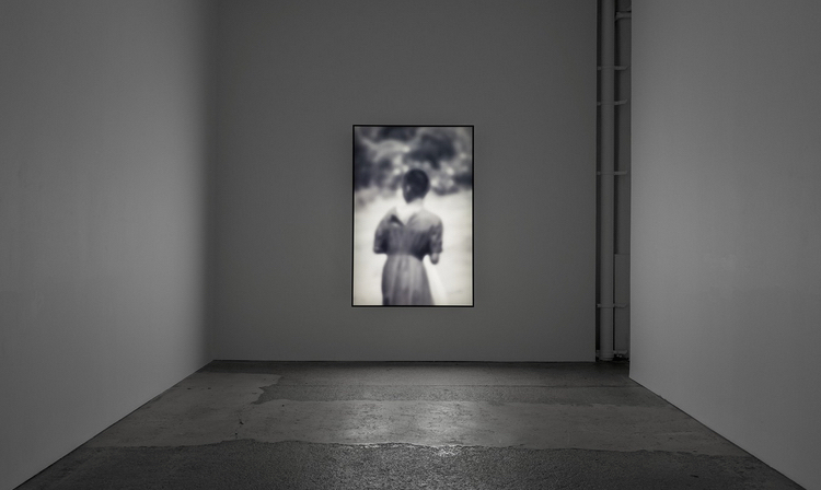 "Alfredo Jaar, ""Six Seconds,"" 2000. Lightbox with black and white transparency, 72 x 48 x 6 inches, Edition of 2 + 1 AP. Courtesy: Galerie Lelong, New York"