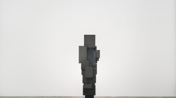 Antony Gormley, EXPANSION FIELD 41/60, 2014. 4 mm Corten steel, 201 x 59.9 x 60.3 centimeters. Courtesy of Galerie Thaddaeus Ropac.