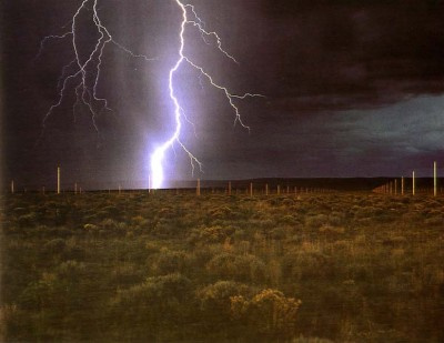Walter De Maria, The Lightning Field, 1977.