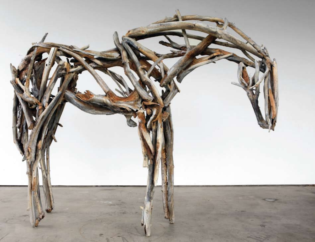 "Deborah Butterfield, Untitled 3449, 2009, bronze , 97"" x 120"" x 35"