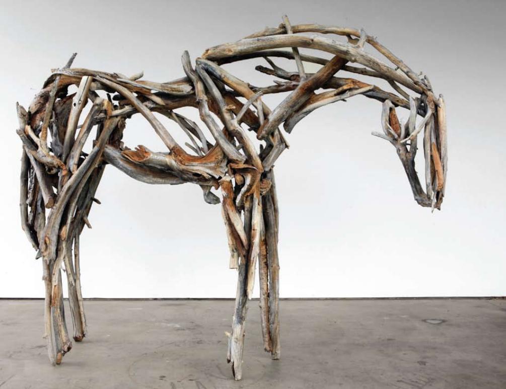 "Deborah Butterfield, Untitled 3449, 2009, bronze , 97"" x 120"" x 35"
