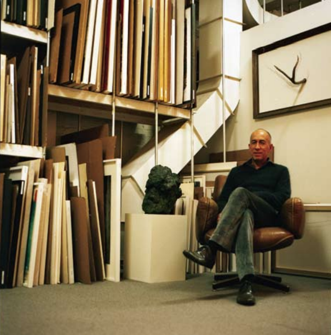 Ed Gilbert, Gallery Manager, in the inventory room.