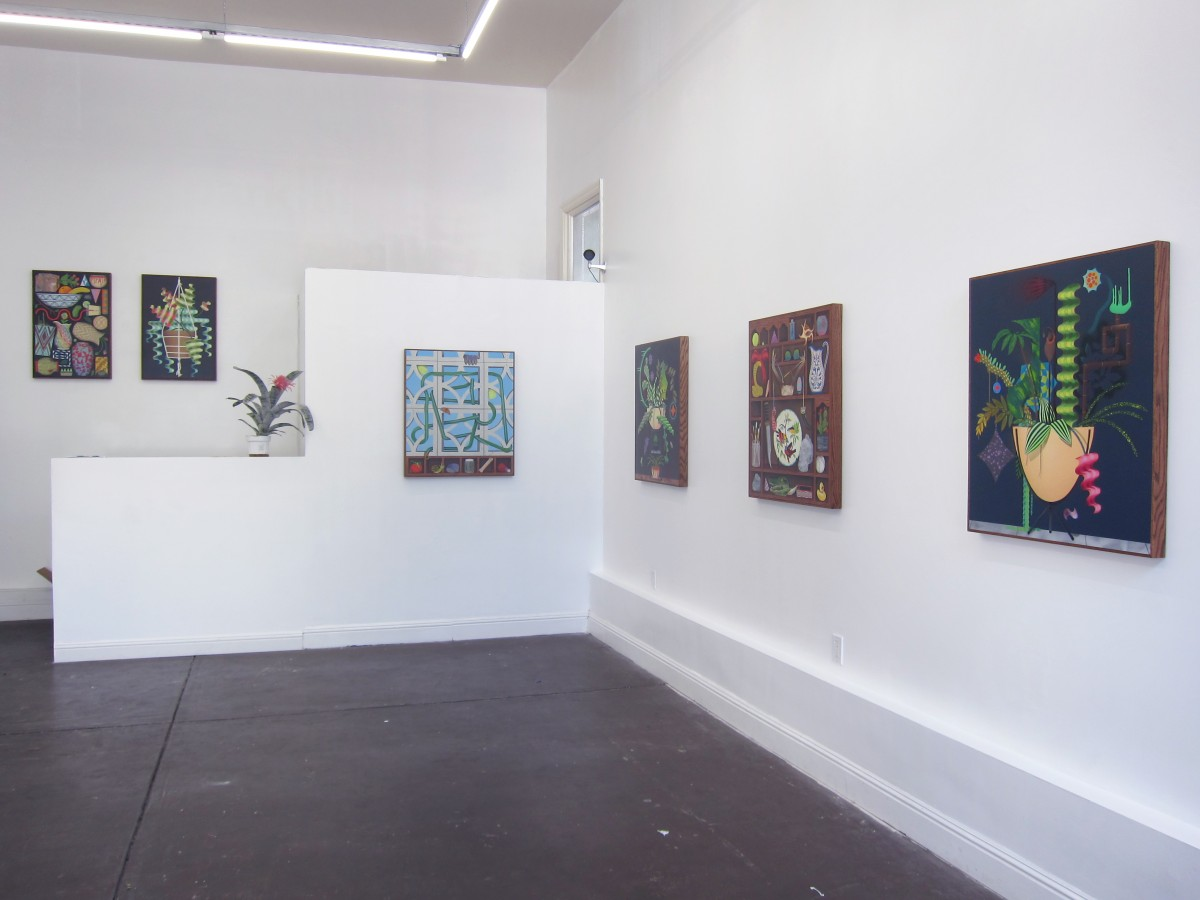"""Installation view, """"Wave Pool,"""" Casey Gray at Park Life Gallery, San Francisco, 2015. Courtesy of the artist and Park Life Gallery."""