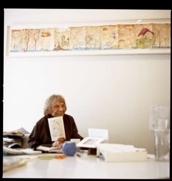 Paule Anglim in her office.