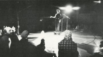 Julia Heyward performing Shake Daddy Shake at Judson Memorial Church, 1976. Photograph by Lizbeth Marano. Courtesy of the CCA Wattis Institute for Contemporary Arts.