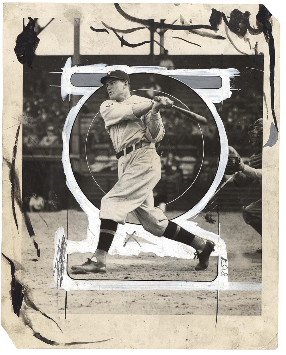 Photographer Unknown, Press photo: baseball, 1930s-1940s. Courtesy Pier 24 Photography, San Francisco.