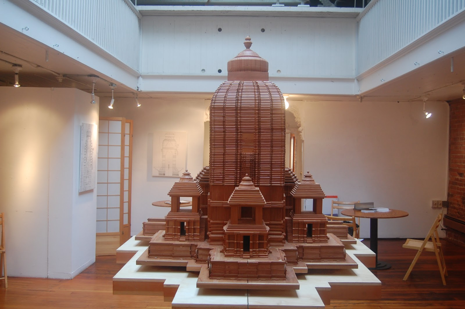Richard Berger, The Prosthetic Temple, 2008-2011. Redwood, 48 x 60 x 81 inches.