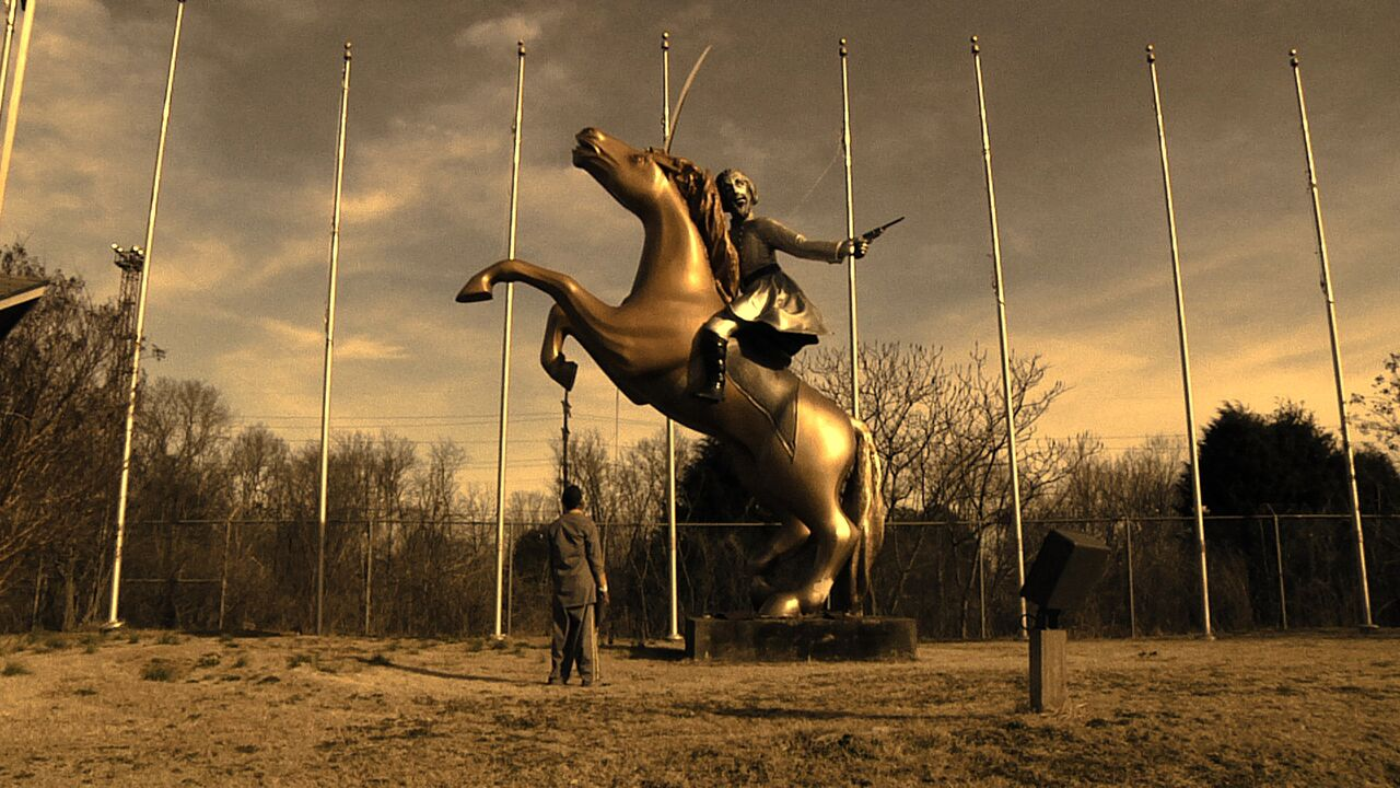 """William Pope.L, """"Reenactor"""" (2012). Video still. Courtesy of the artist and Mitchell-Innes & Nash, New York"""