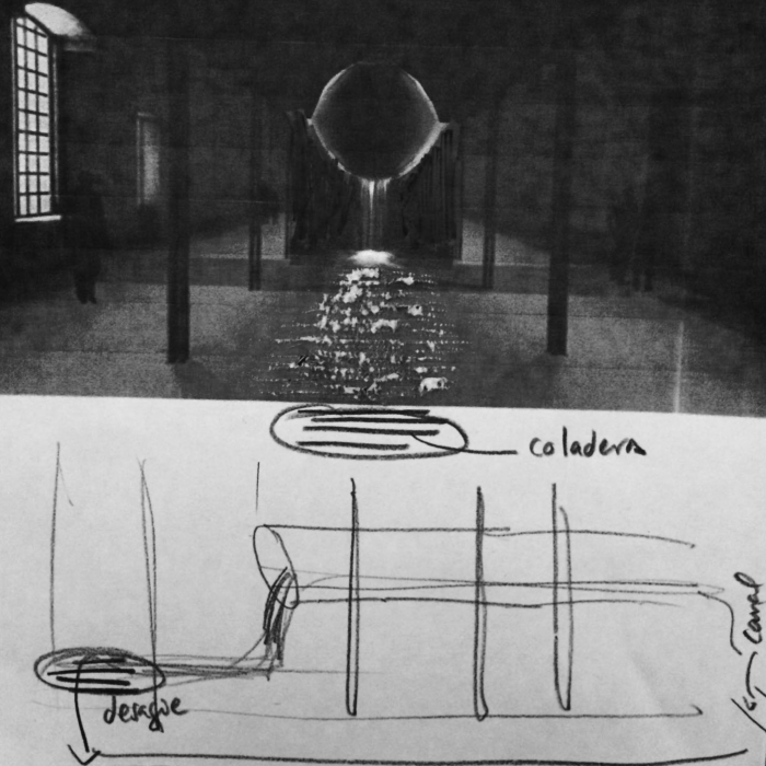Tania Candiani and Luis Felipe Ortega, Sketch of Possessing Nature, 2015. Forthcoming installation at the Venice Biennale. Courtesy of the artists.