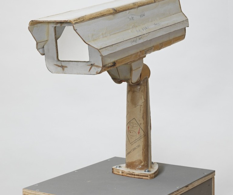 Tom Sachs, Untitled, 2014, plywood, fiberglass, resin, hardware, 25H x 10W x 13D inches.