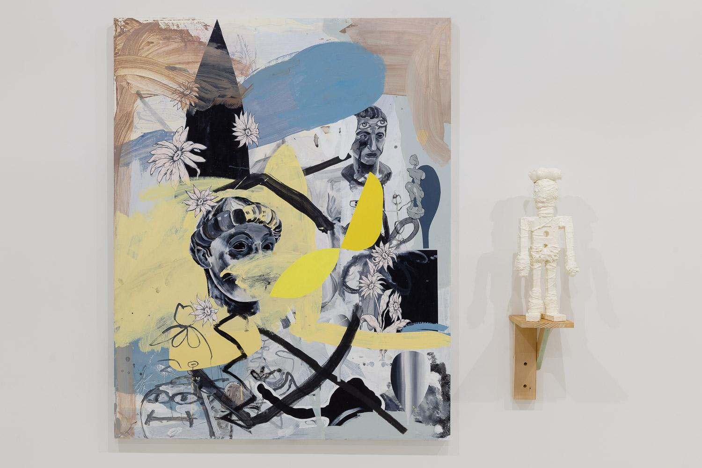 "Installation view, ""Yellow Bikini,"" Mark Mulroney at Mixed Greens, New York, 2015. Courtesy of Mixed Greens."