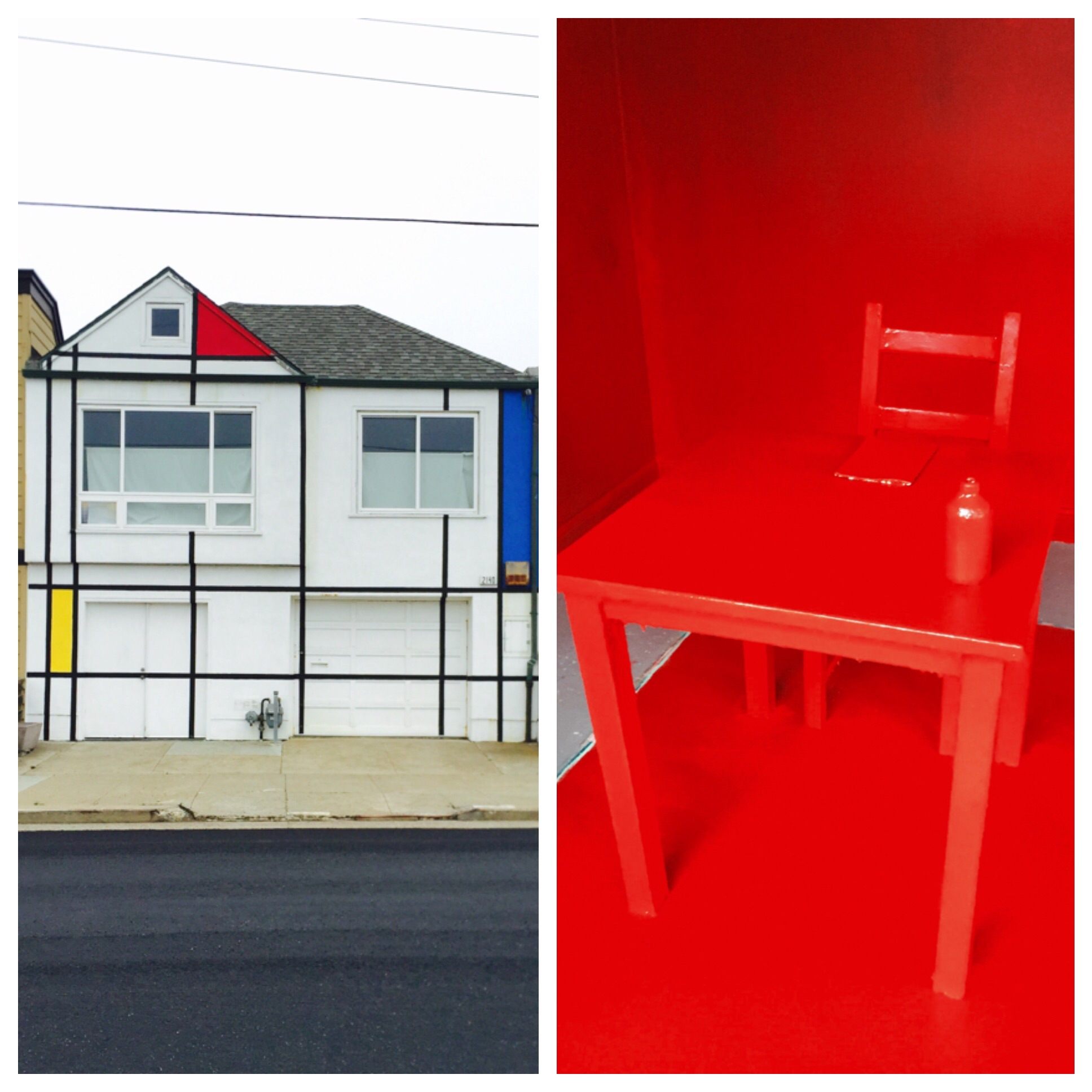 Leah Rosenberg, Everyday, a color, 2015. Left: source color taken from the world; right: painted gallery at Irving Street Projects. Photo courtesy of Leah Rosenberg.