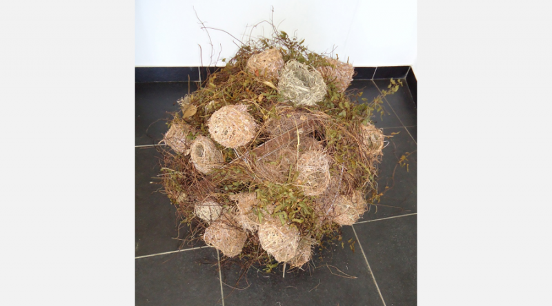 MAURITIUS: Included in the first national Pavilion of the Republic of Mauritius is miniature version of the mammoth tumble weeds that kept the island virtually uninhabitable until the early 1980's.