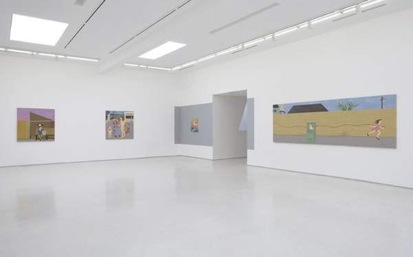 "Installation view, ""Synthetic Suburbia,"" Ed Templeton at Roberts & Tilton, Los Angeles, 2015. Courtesy of Roberts & Tilton."
