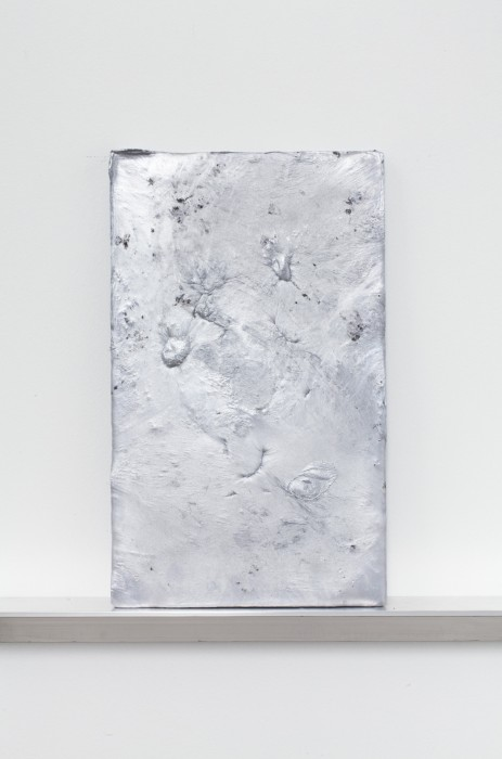 Plate 4, 2014. Aluminum. 20 x 12 x 0.75 inches. Courtesy of the artist.