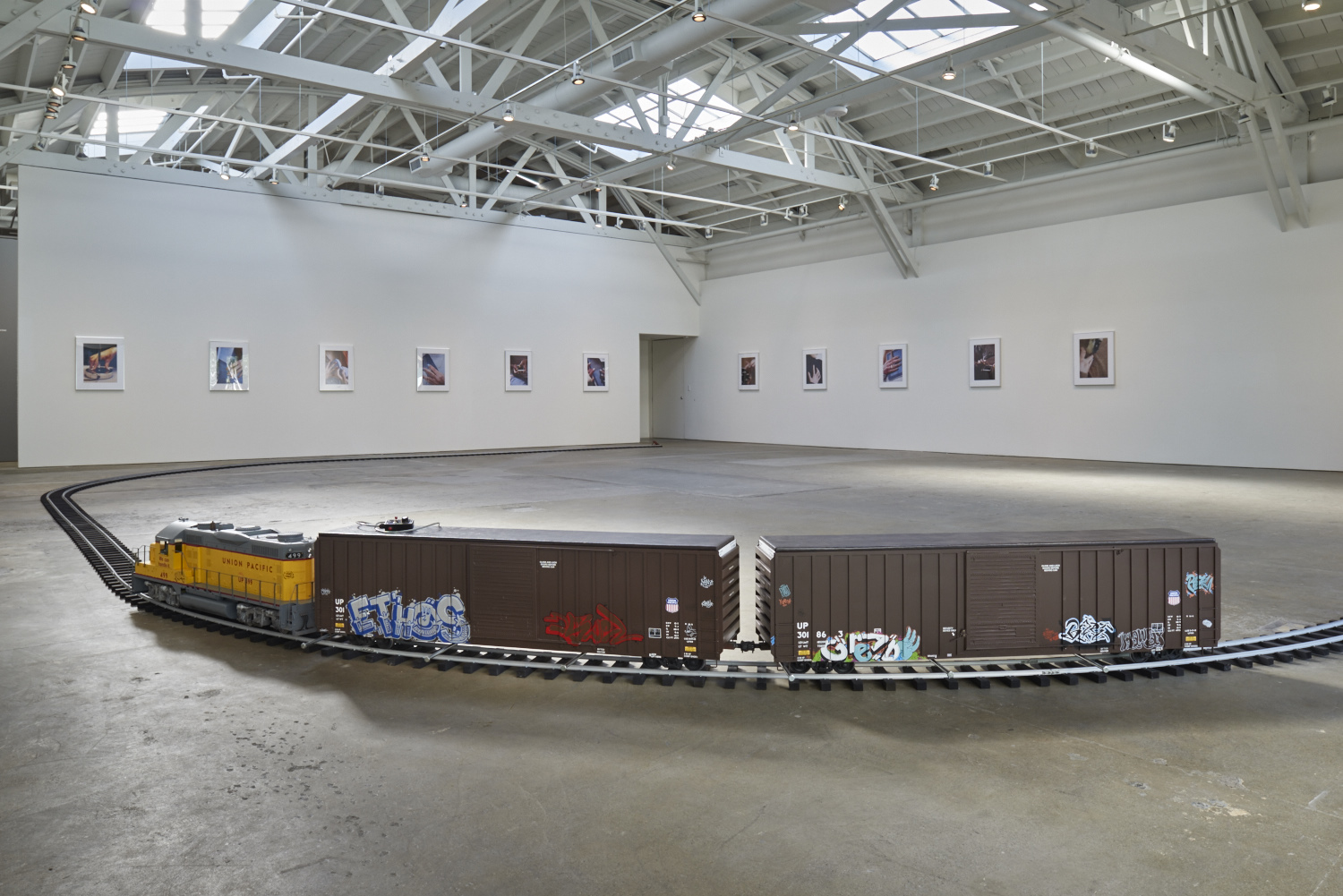 Josephine Pryde, Lapses In Thinking By The Person I Am, installation view at the CCA Wattis Institute for Contemporary Arts, May 5 - August 1, 2015. Courtesy CCA Wattis Institute for Contemporary Arts. Photo by Johnna Arnold.
