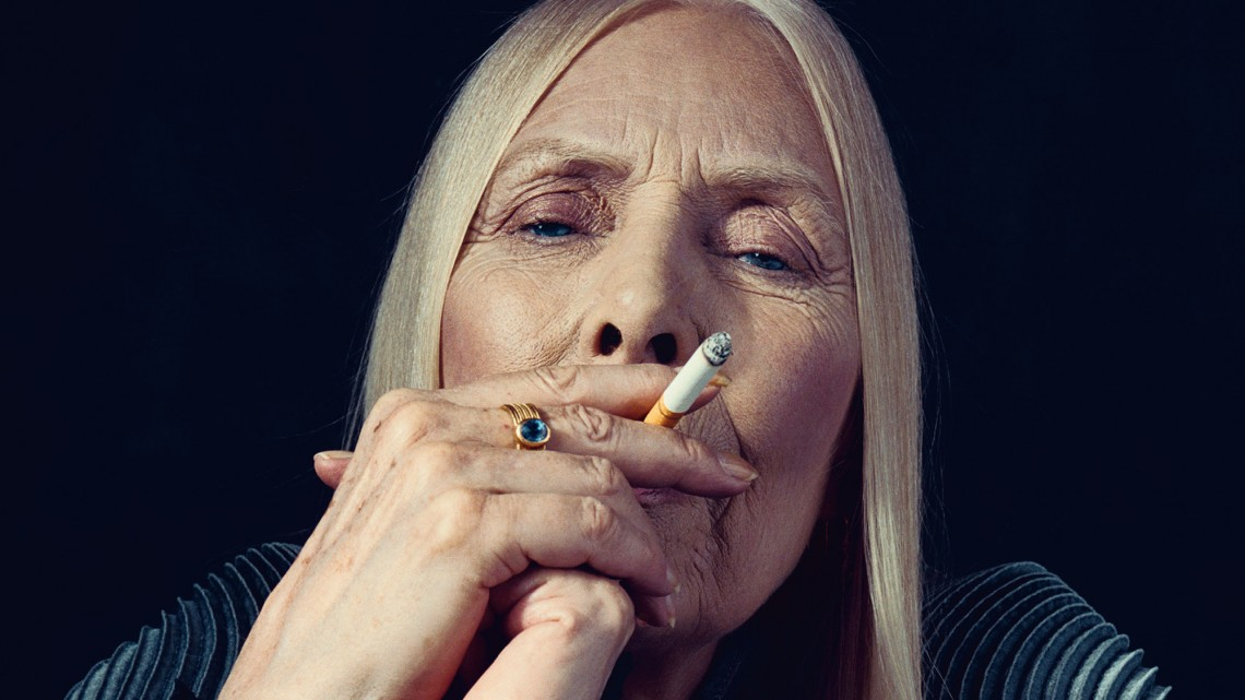 Joni Mitchell, photographed by Norman Jean Roy for New York Magazine, February 2015.