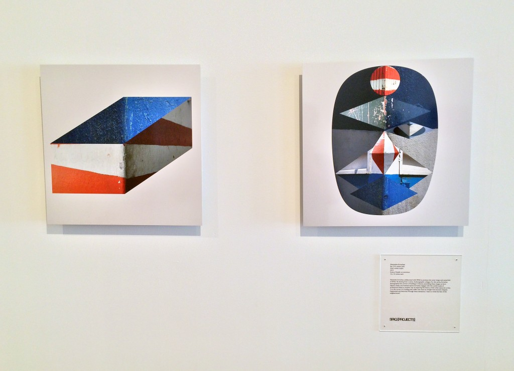 Box 23-E vedado (left) Mask vedado (right) 2014. Endura Metallic on aluminum. Edition of 5. 16 x 16 inches each