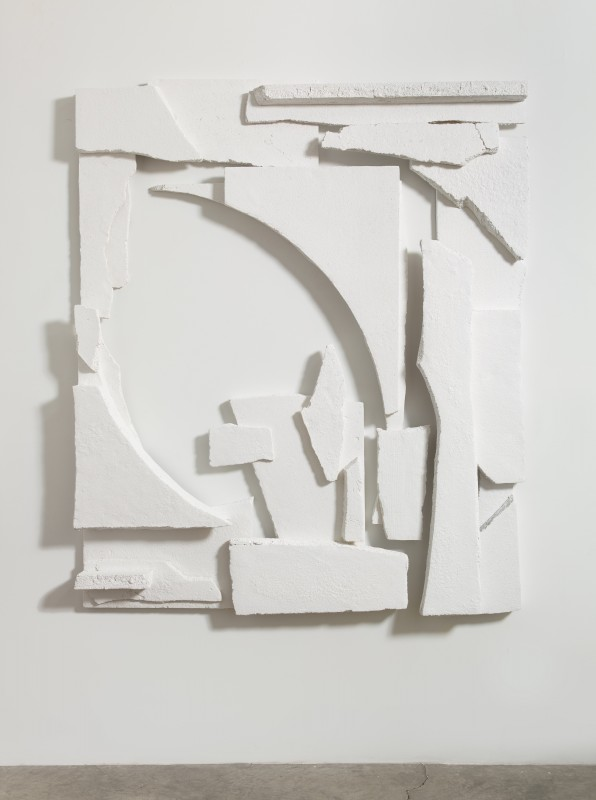 Carolyn Salas, The Breakups #2, 2014. Painted resin (in six parts), 72 x 61 x 8 inches. Courtesy of Koenig & Clinton.