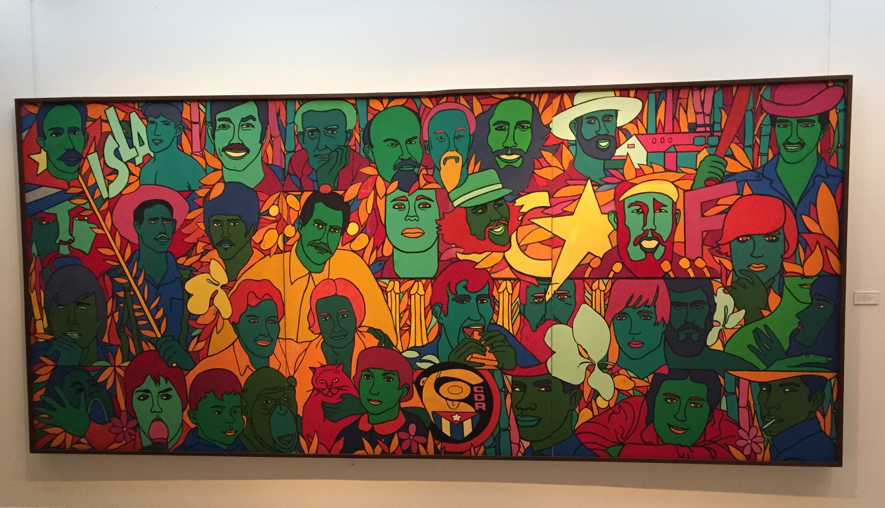 "Raul Martinez. ""La Isla (The island),"" oil on canvas, 1970."