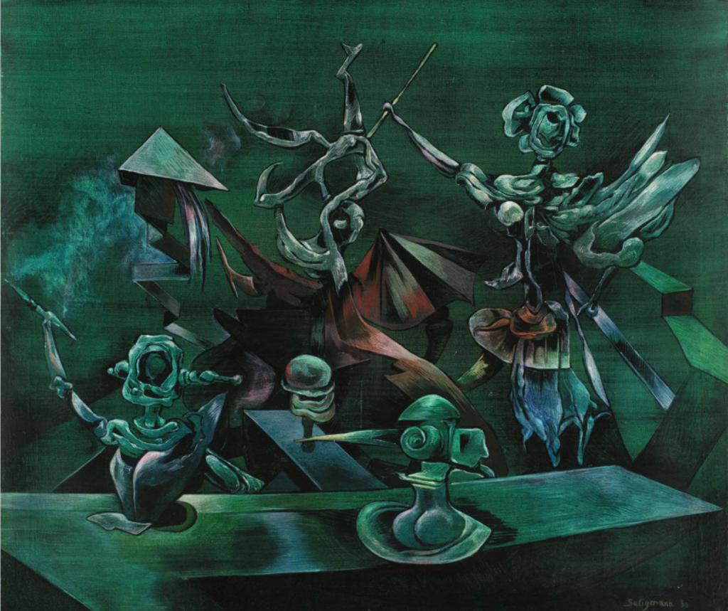 Kurt Seligmann, The Age of Reason, 1950. Oil on canvas, 31 1/2 x 39 3/4 inches. Courtesy of Weinstein Gallery.