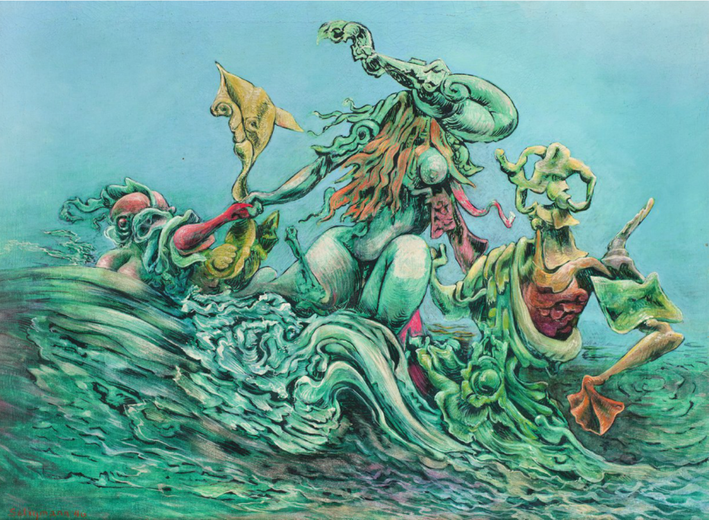 Kurt Seligmann, Amphitrite, 1946. Oil on canvas, 24 x 32 inches. Courtesy of Weinstein Gallery.
