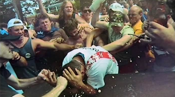 Still from Cronulla Riots: The Day That Shocked the Nation, a documentary produced by SBS about the racially-motivated riots in Cronulla, Australia, 2005.