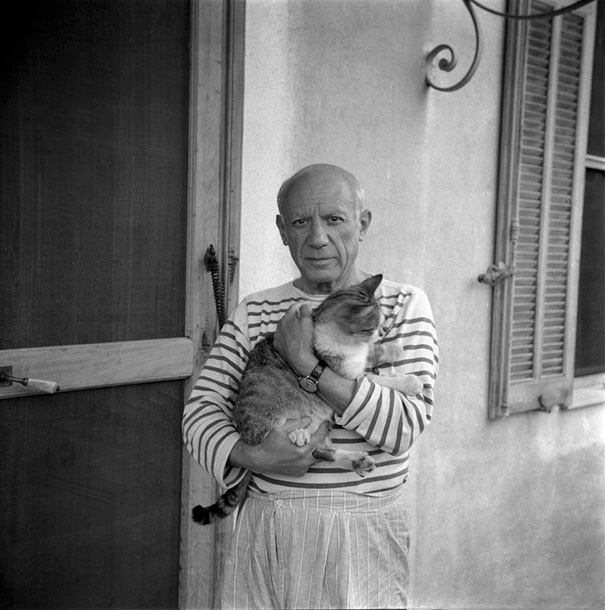 "Picasso with his cat, ""Fur Period""."