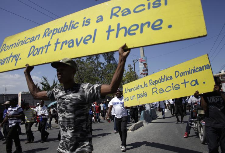 Protests in Port-au-Prince, February 2015.