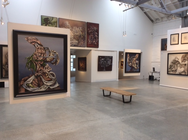 Installation view, Kurt Seligmann: First Message from the Spirit World of the Object at Weinstein Gallery, San Francisco, May 9–August 28, 2015. Courtesy of Weinstein Gallery.