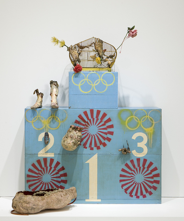 Kudo Tetsumi, Olympic Winners Platform (Pollution Olympics—Pollution Game—L'art pressentiment), 1970-1972 Walker Art Center; T. B. Walker Acquisition Fund, 2008; © Artists Rights Society (ARS), New York / ADAGP, Paris; Photograph © Walker Art Center.