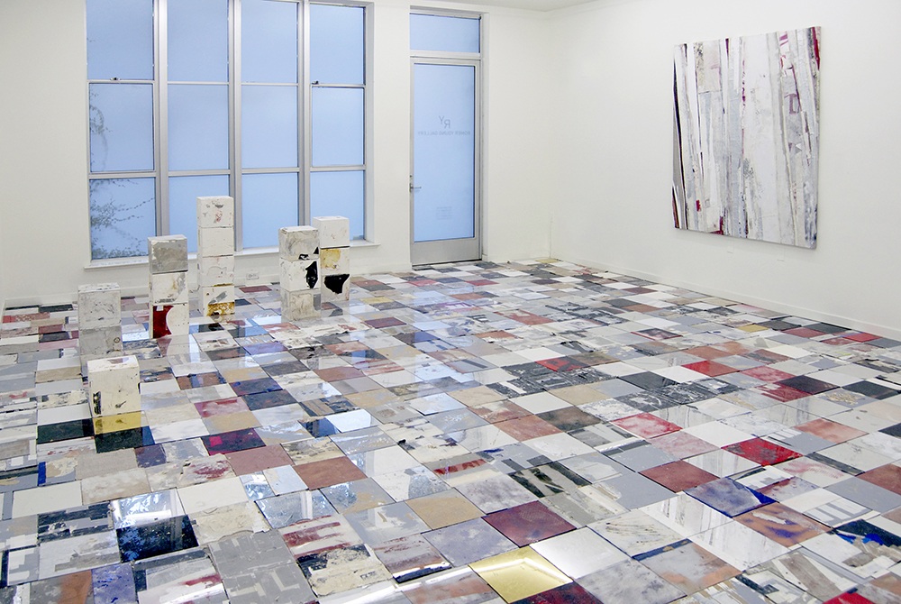 """Installation view. Ryan Wallace """"LD50"""" at Romer Young Gallery. On view from June 12 - July 25, 2015."""