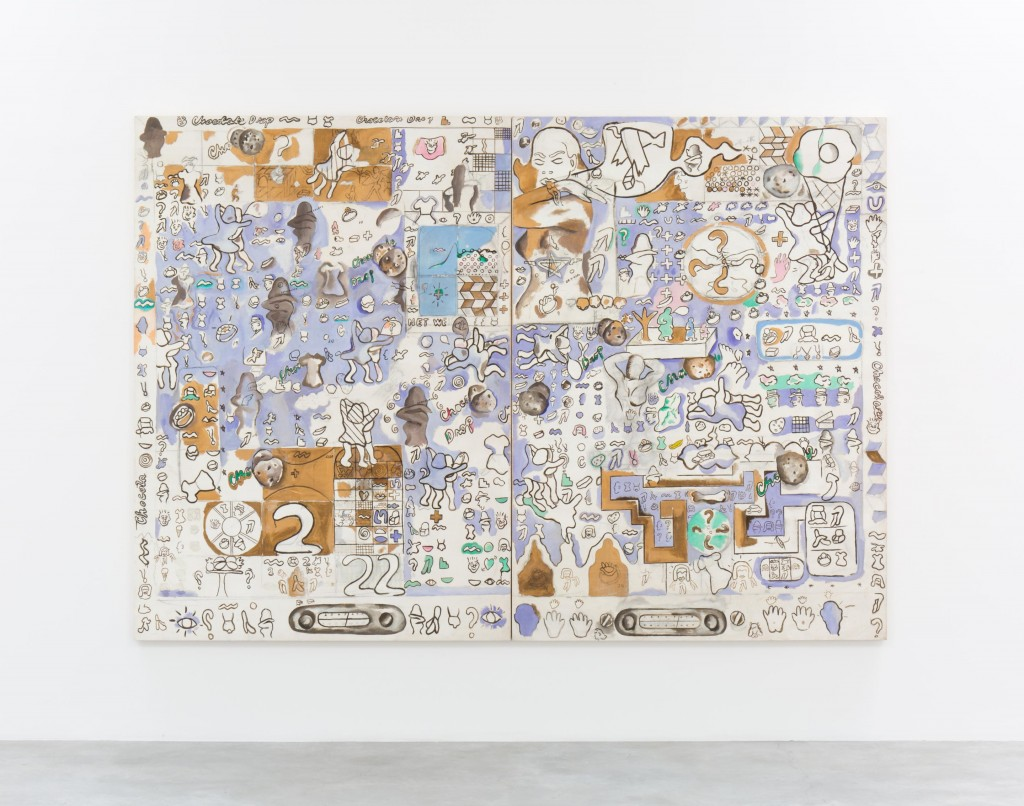 Suellen Rocca, Chocolate Chip Cookie, 1965. Oil on canvas, Each: 84 x 60 inches. Courtesy of Matthew Marks Gallery.