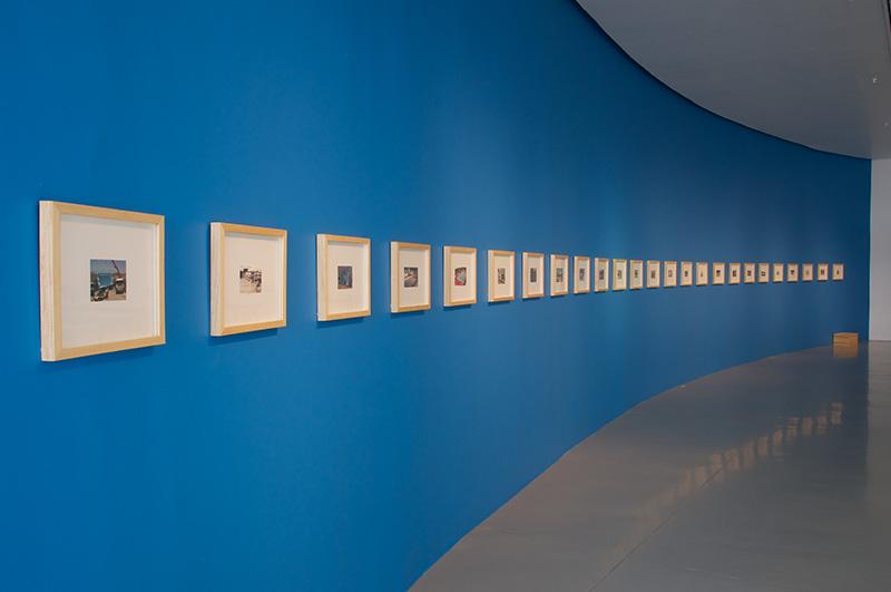 "Fermín Jiménez Landa. ""The Swimmer, visual essay,"" 2013. Digital prints, Variable dimensiones (31 elements). Courtesy of the artist and Galería Bacelos. Photo credit: Maj Lindstrom"